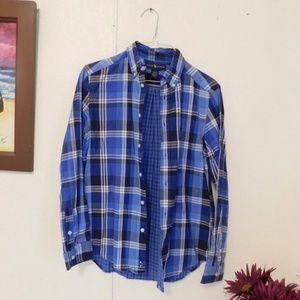 Ralph Lauren Blue square button shirt